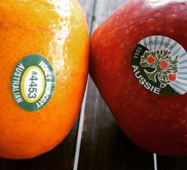 What do the stickers on my fruit mean?